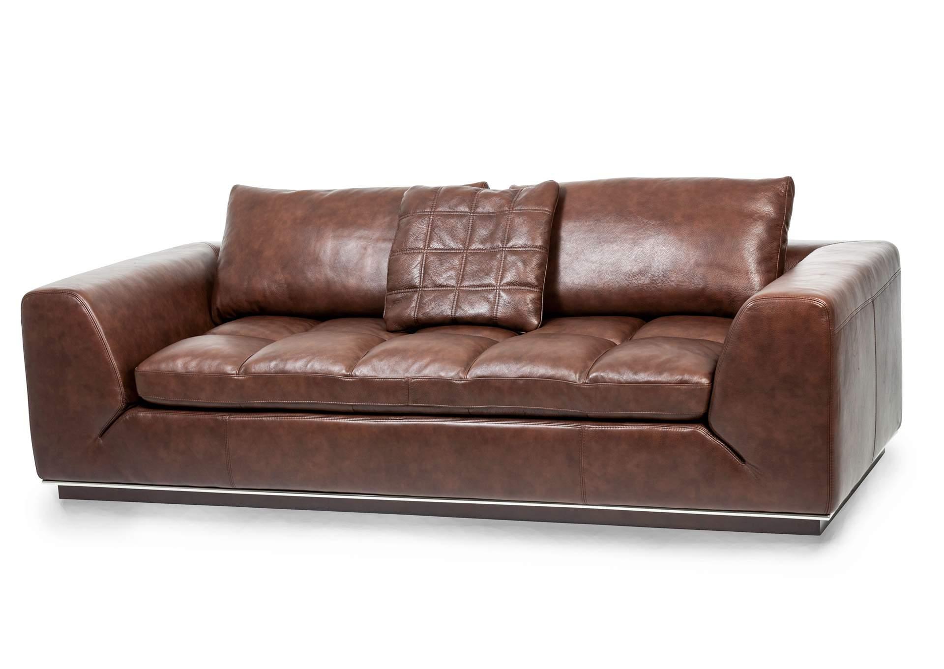 Bon Rosato Cordovan Leather Sofa,AICO