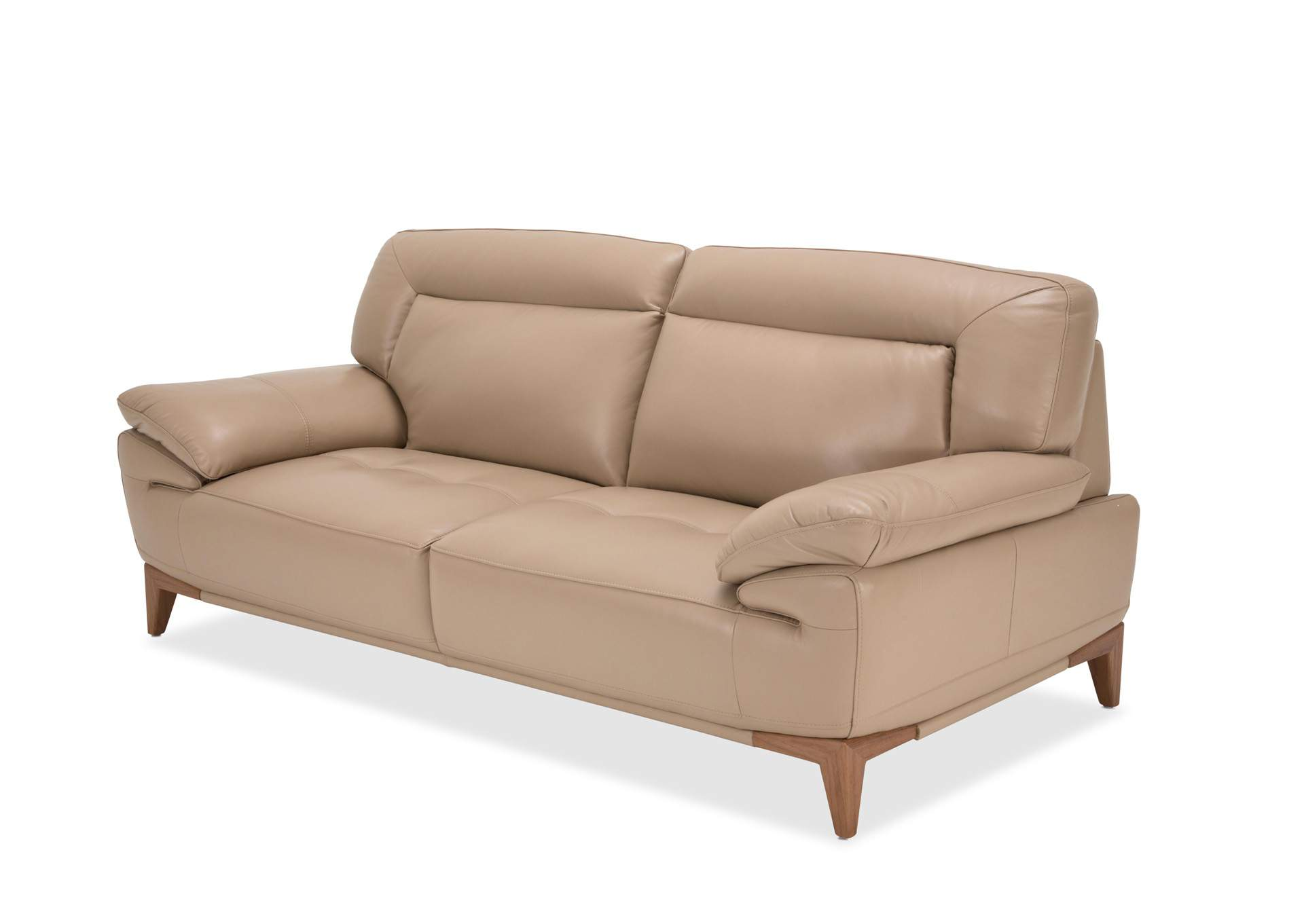 Premier Furniture Gallery Turano Taupe Leather Sofa