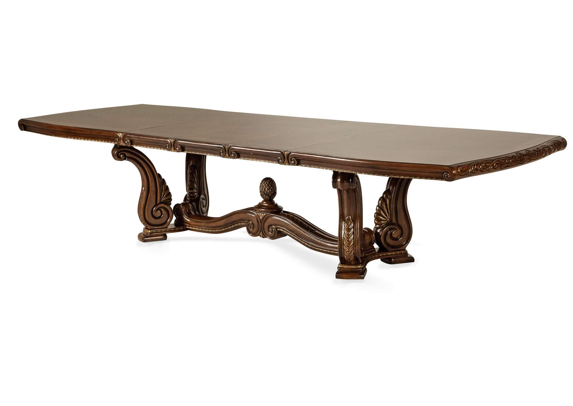 Genial Oppulente Sienna Spice Rectangular Dining Table (2 Pc),AICO