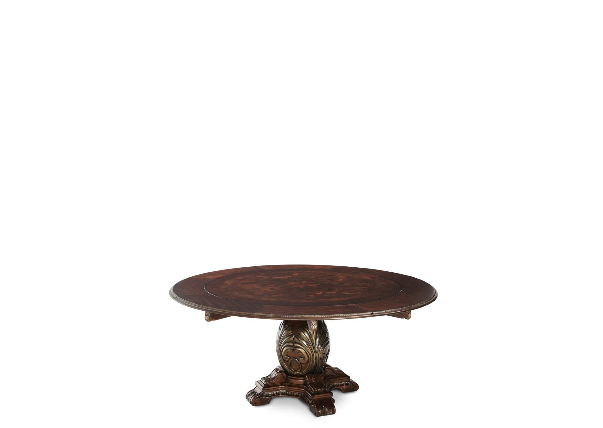 The Sovereign Soft Mink Round Dining Table w/4 x 9