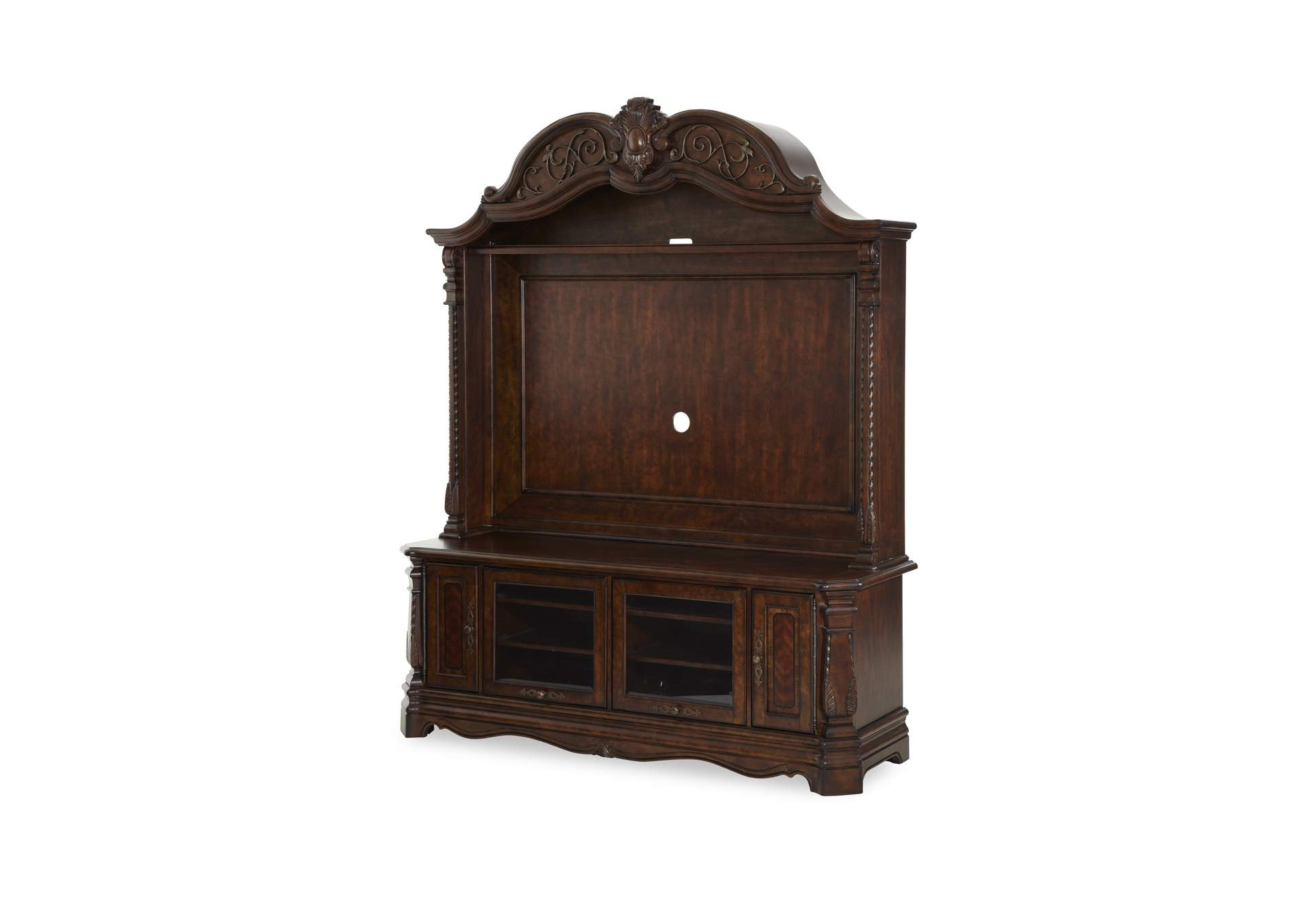 Windsor Court Vintage Fruitwood Entertainment Unit,AICO