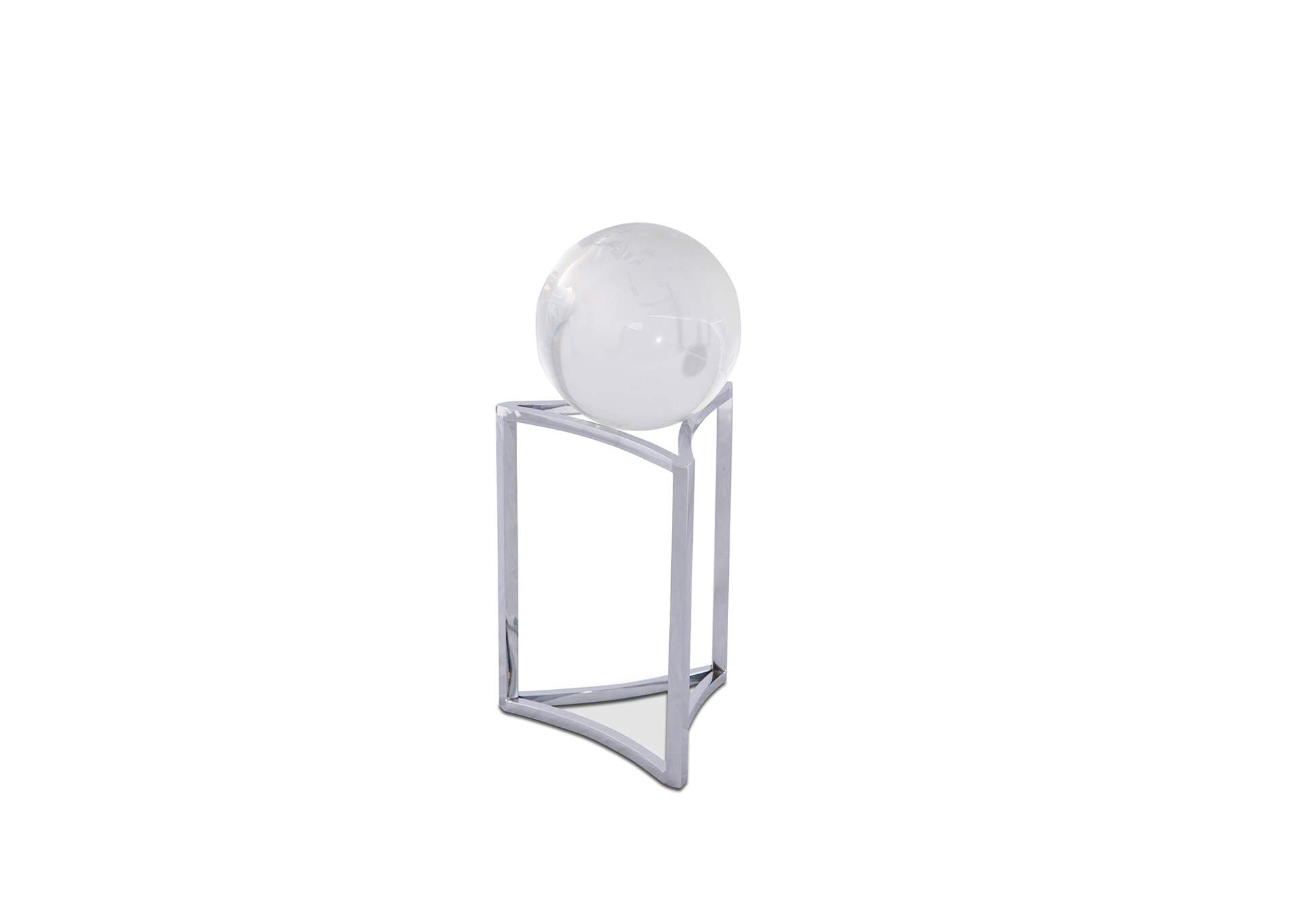 Montreal Silver Stand w/Crystal Globe, Large, Pack/4,AICO