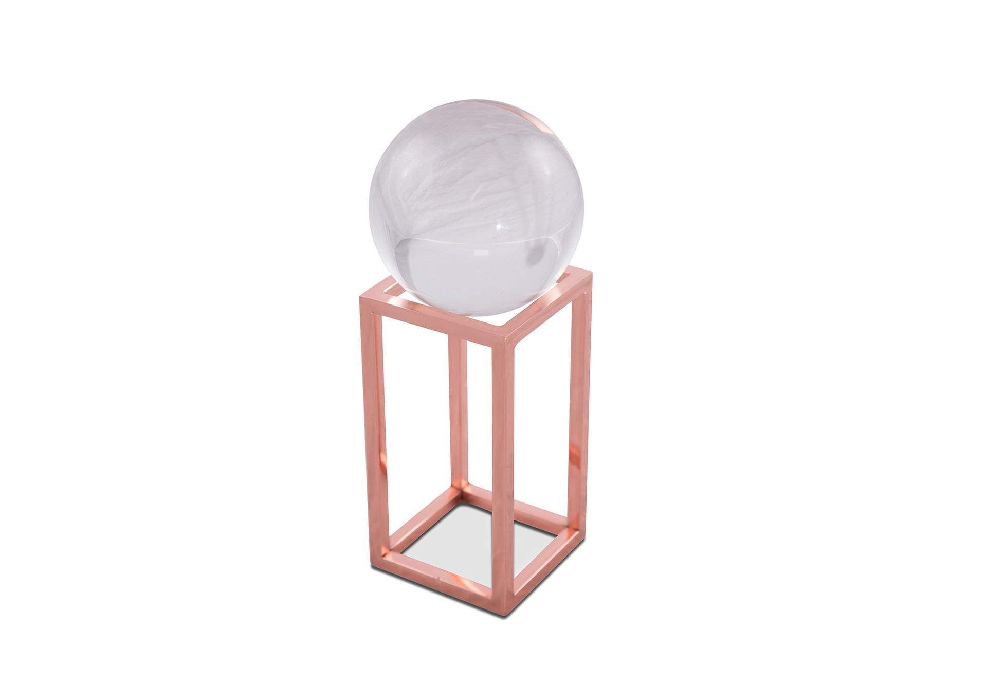 Montreal Rose Gold Stand w/Crystal Ball, Small, Pack/4,AICO