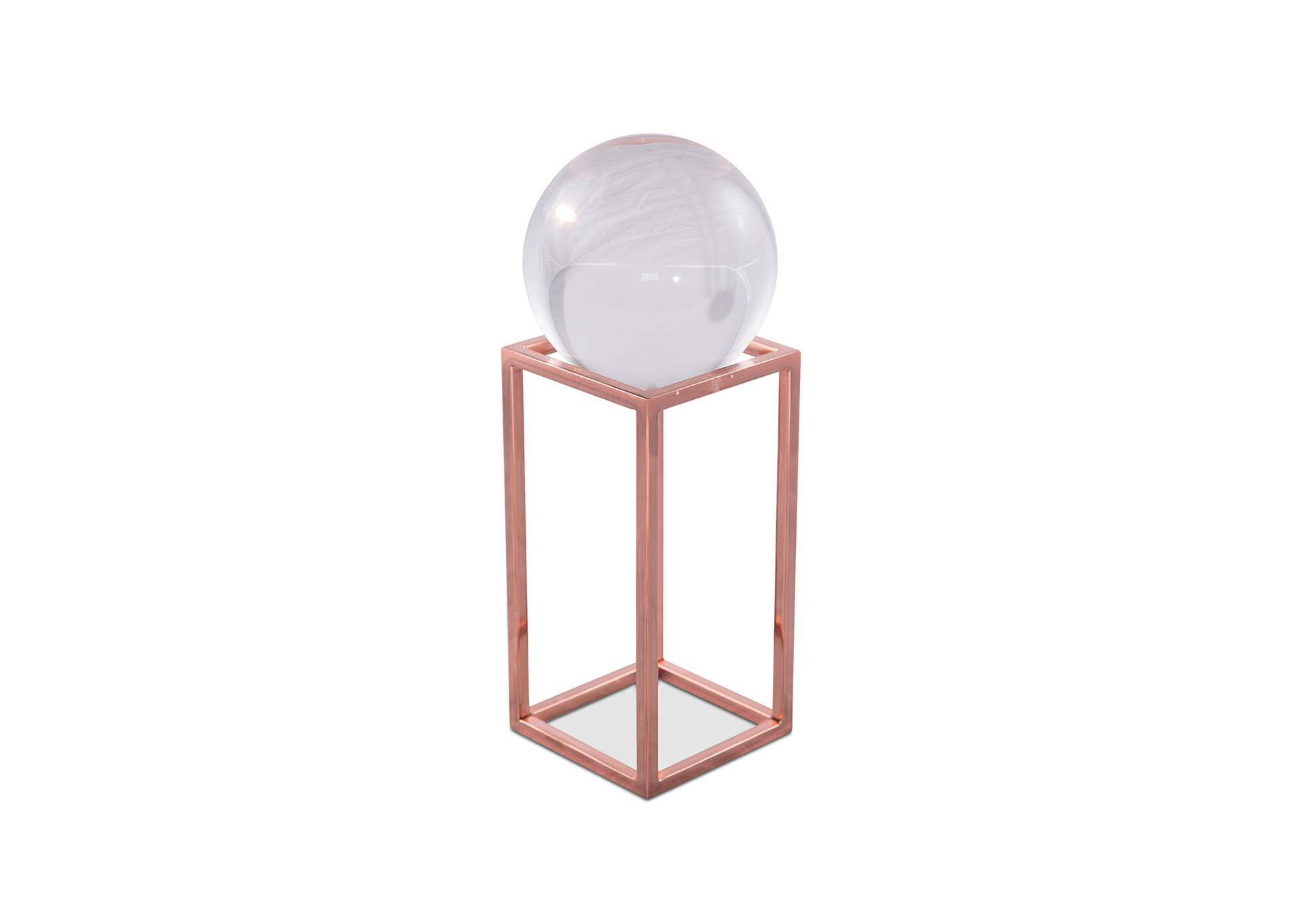 Montreal Rose Gold Stand w/Crystal Ball, Large, Pack/4,AICO