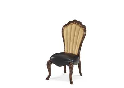 Palace Gates Royal Sable Leather Side Chair
