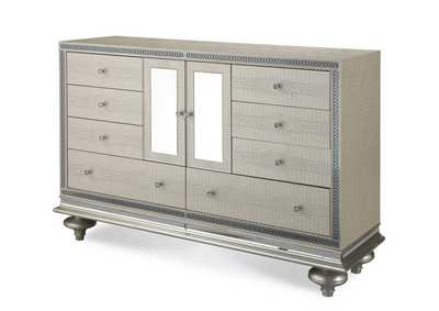 Image for Hollywood Swank White Upholstered Dresser