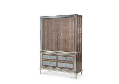 Hollywood Swank Amazing Gator Upholstered Media Cabinet