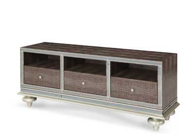 Hollywood Swank Amazing Gator Upholstered Entertainment Console