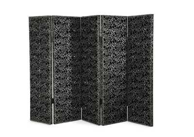 Hollywood Swank Black Folding Screen