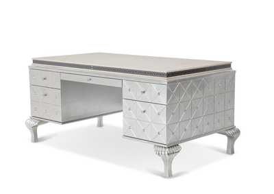Image for Hollywood Swank Pearl Caviar Desk W/ White Top