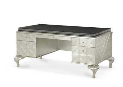 Image for Hollywood Swank Pearl Caviar Desk W/ Black Top