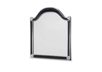 Image for Hollywood Swank Black Bombe Chest Mirror