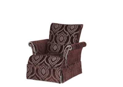 Image for Grand Masterpiece Amethyst High Back Skirted Armchair