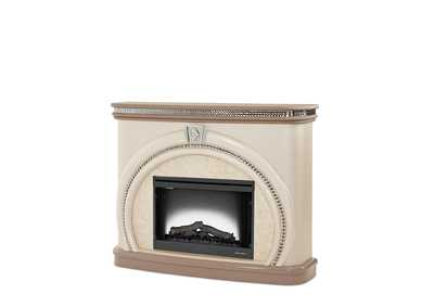 Overture Cristal Fireplace w/Electric Firebox Insert