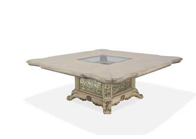Platine de Royale Champagne Square Dining Table w/Glass Insert