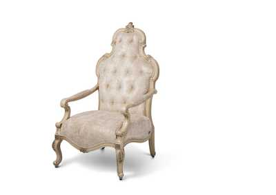 Platine de Royale Champagne Wood Arm Dining Chair