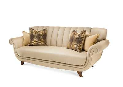 Cloche` Bourbon Channel Back Sofa - Grp1/Opt1