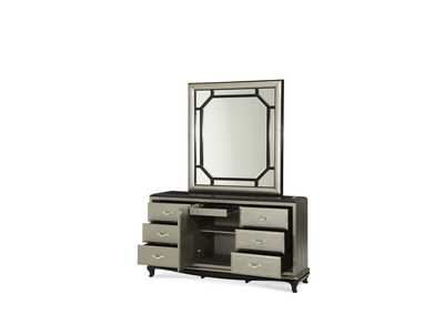After Eight Titanium Rectangular Dresser Mirror