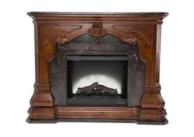 Image for Tuscano Melange Marble Top & Marble Base Fireplace