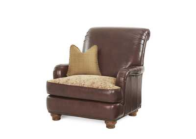 Image for Tuscano Spice Leather/Fabric Club Chair