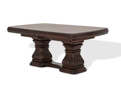 Villagio Hazelnut Rectangular Dining Table w/2 12.5
