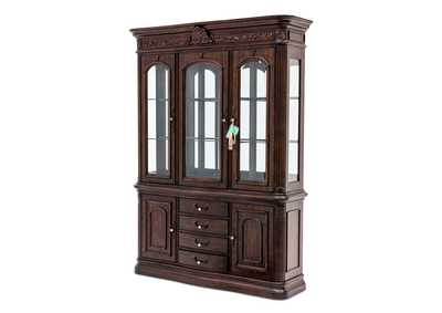 Villagio Hazelnut Smaller-Scaled China & Buffet Cabinet