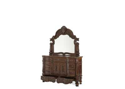 Image for Windsor Court Vintage Fruitwood Dresser & Mirror (2 Pc)