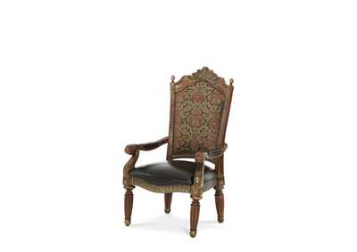 Image for Villa Valencia Classic Chestnut Assembled Arm Dining Chair
