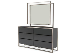 Image for Metro Lights Midnight Metal Dresser w/Midnight Mirror