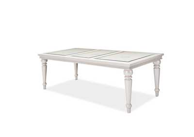 Glimmering Heights 4 Leg Dining Table w/Glass Insert