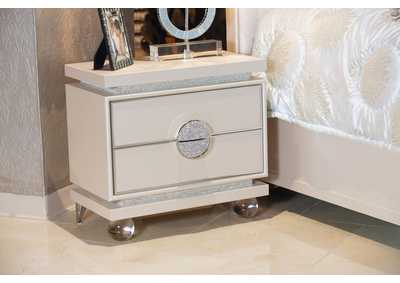 Image for Glimmering Heights Ivory Upholstered Nightstand