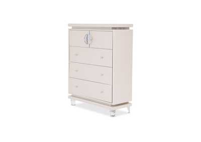 Glimmering Heights Upholstered 5 Drawer Chest