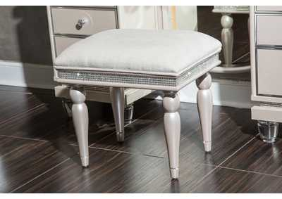 Glimmering Heights Ivory Vanity Bench