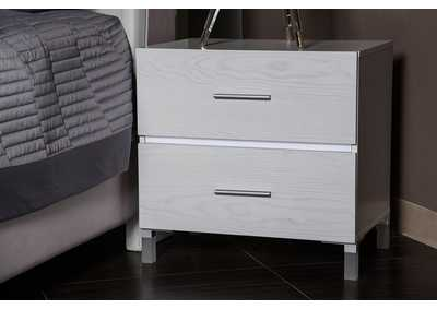 Image for Lumiere Frost Nightstand w/LED lights