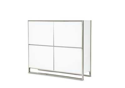Image for State St. Glossy White Accent Cabinet