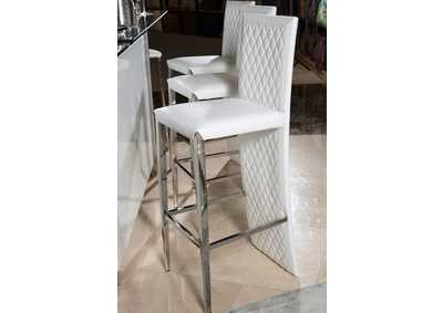Image for State St. Glossy White Barstool