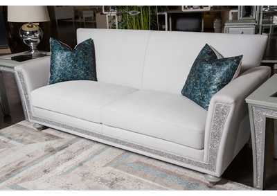 Scotts Square Dove Sofa w/Crystals