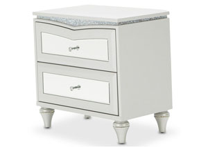 Image for Melrose Plaza Dove Upholstered Nightstand