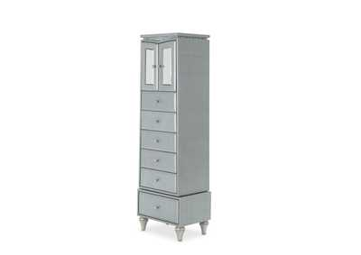 Melrose Plaza Dove Upholstered Swivel Lingerie Chest