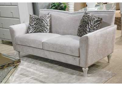 Image for Melrose Plaza Dove V Back Loveseat