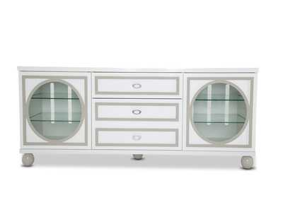 Sky Tower White Cloud TV Cabinet