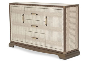 Valise Amazon Tan Gator Upholstered Sideboard
