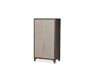 21 Cosmopolitan 6 Drawer Pebble Grain Chest Taupe/Umber