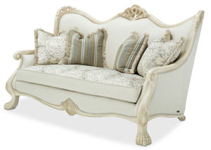 Chateau De Lago Blanc Wood Trim Loveseat
