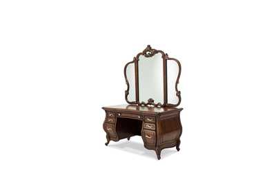 Image for Platine de Royale Light Espresso Vanity Mirror