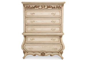 Platine de Royale Champagne 6 Drawer Dresser (2 Pc)