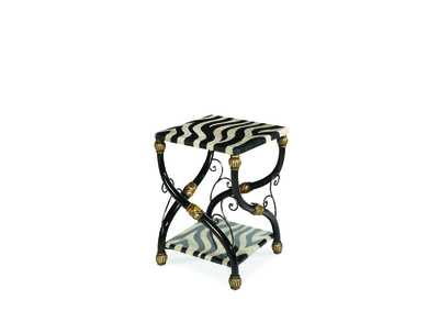 Image for Discoveries Zebra Accent Table