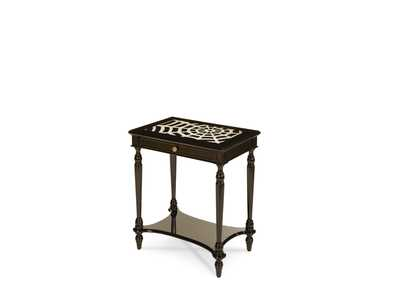 Image for Discoveries Spider Web Chairside Table w/Drawer & Shelf