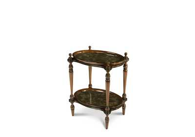 Image for Discoveries Rubber Leaf Accent Tray Table