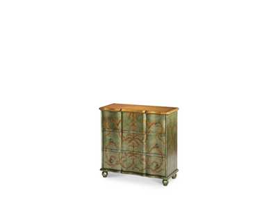 Image for Discoveries Silver Green Storage Chest W/Leaf